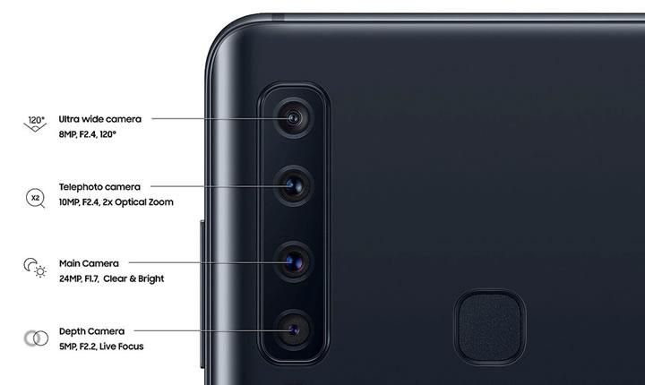Samsung A9 4 Kamera ilk akıllı telefon