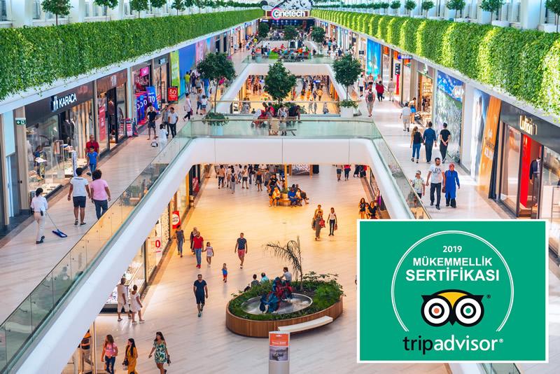 Mall of Antalya Tripadvisor Mükemmellik Ödülü