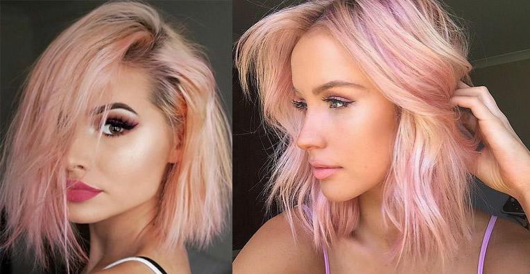 Rose Pembe Saç Modelleri