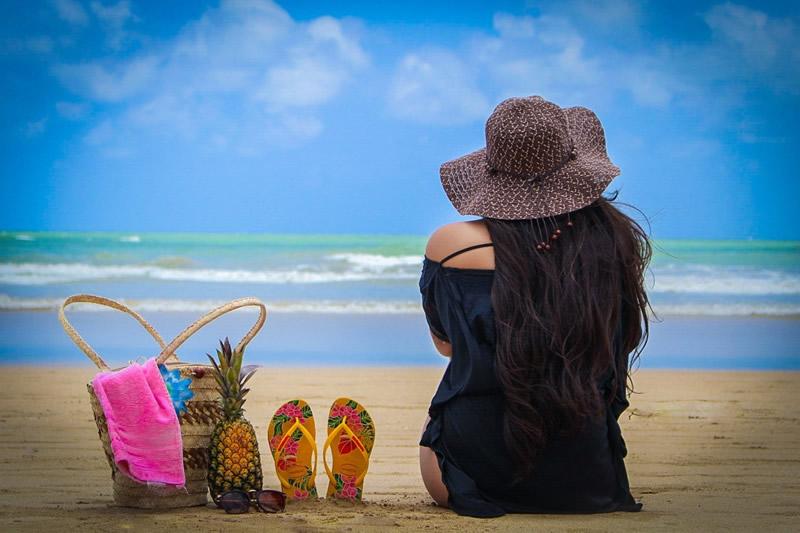 Соломенные пляжные сумки
