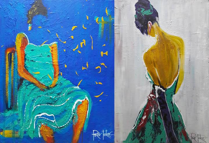 """Pınar Toker """"Ya Kadınsa Zaman"""" Resim Sergisi Mall of Antalya Sanat Galerisi'nde"""