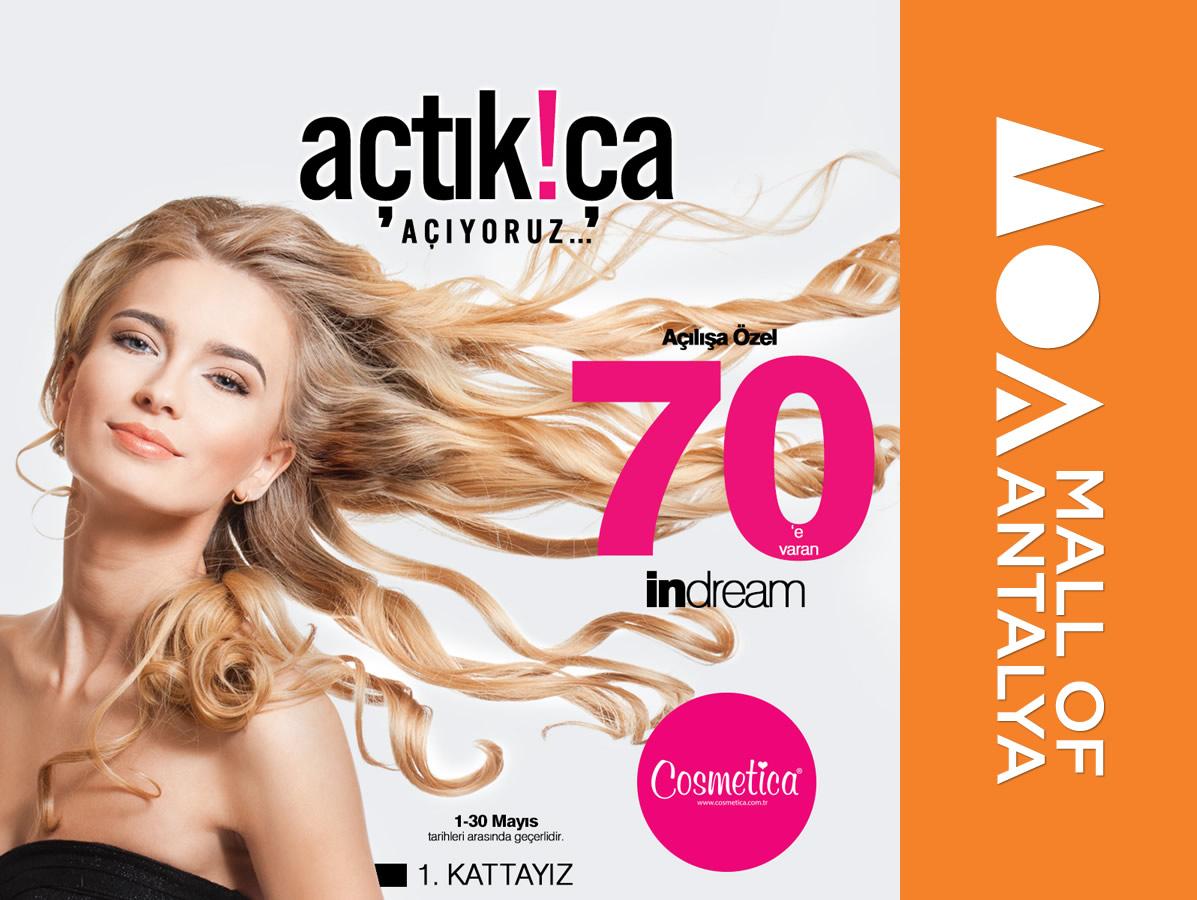 Mall of Antalya 'da açılışa özel Cosmetica indirimi