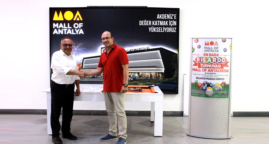 Babalar Günü Mall Of Antalya'da bilardo turnuvası ile kutlandı.