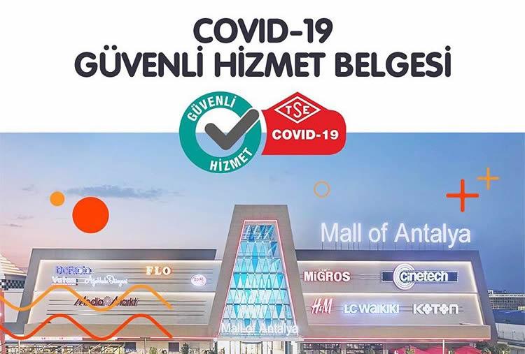 MALL OF ANTALYA VE DEEPO OUTLET 'TSE GÜVENLİ AVM SERTİFİKASI' ALDI