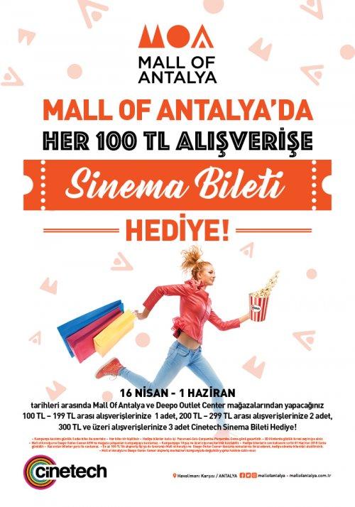 100TL Alışverişlerde Hediye CİNETECH Sinema Bileti Kampanyası