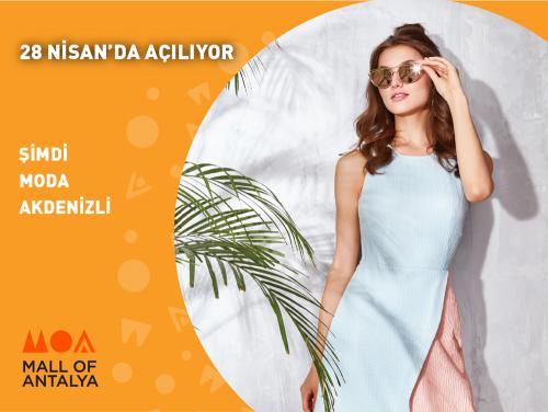 En moda markaların yer aldığı Akdeniz'in en büyük alışveriş ve yaşam merkezi